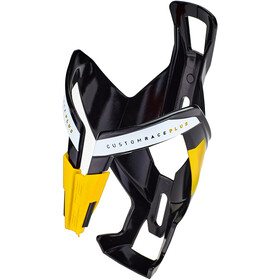 Elite Custom Race Plus Flaskeholder, glossy black/yellow design